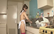 Two men banging horny housewife