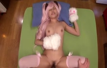 Japanese girl in costume gets fucked