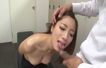 Japanese college girl face fucked