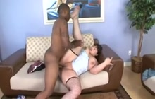Kelly Shibari fucking with a black dude