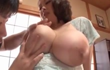 Japanese girl with big tits gets groped