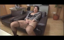 Japanese MILF gets seduced and stripped