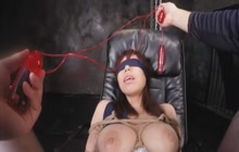 Big boobed Japanese girl bound and punished