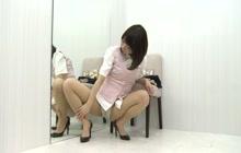 Cute Japanese slut showing off