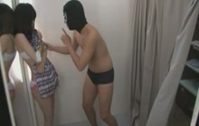 Asian hotties groped in the changing room