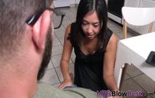 Asian milf pov sucking cock