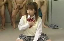 Sweet young Japanese girl bukkake